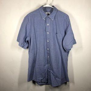 346 Brooks Brothers blue checkered shirt sz 16 1/2